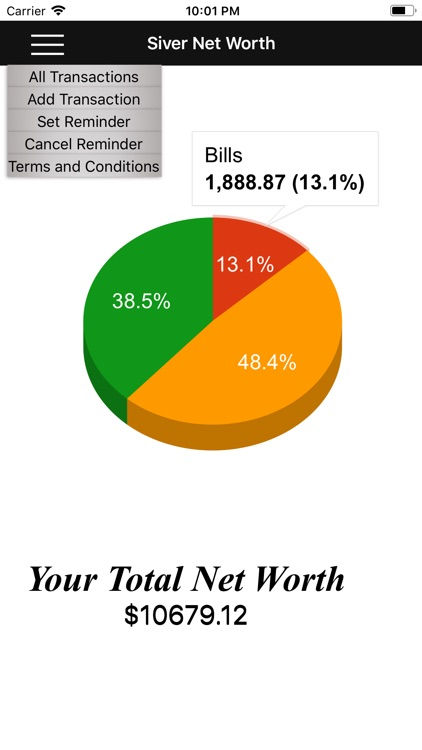 Siver Net Worth Calculator