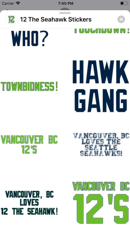 12 The Seahawk Stickers screenshot-5
