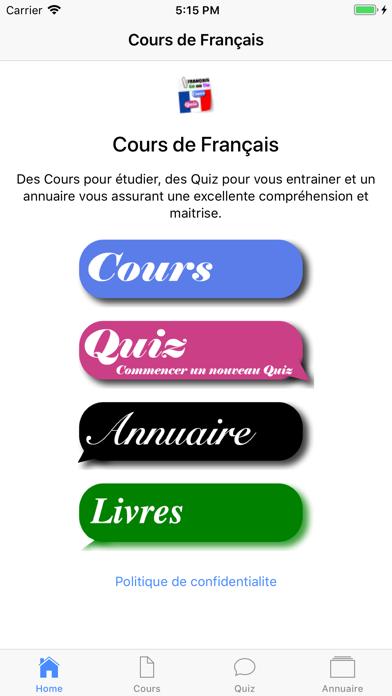 Cours de Français screenshot 4