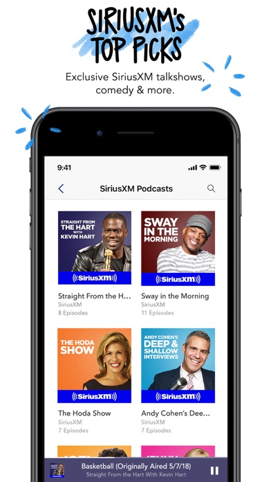 Screenshot of Pandora Music App