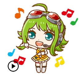 Animated Cute Gumi Sticker