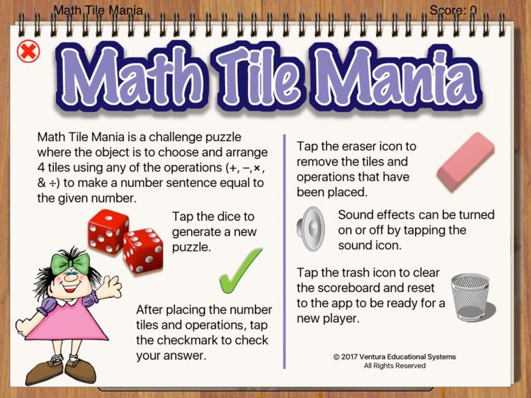 Math Tile Mania