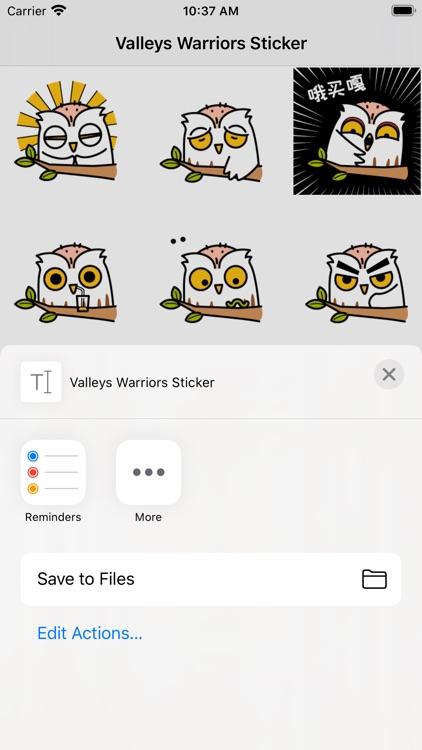 Valleys Warriors Sticker