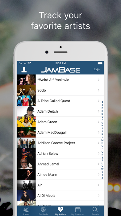 JamBase screenshot