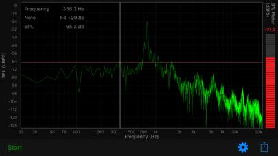 Audio Spectrum Screenshots