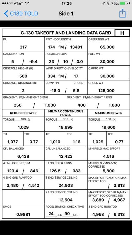 C130 TOLD Calculator: T56-A-15 screenshot-5