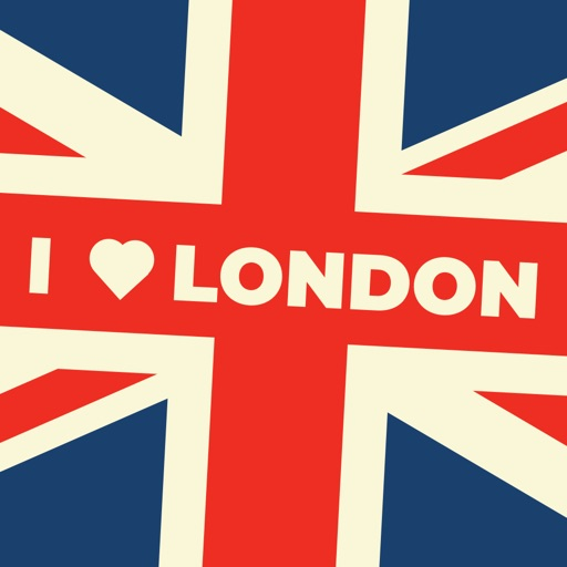 Vintage I Love London Sticker