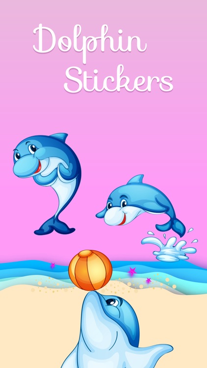 Ocean Dolphin Stickers screenshot-0