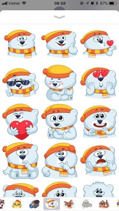 Kitty Bear Emoji Funny Sticker screenshot 1