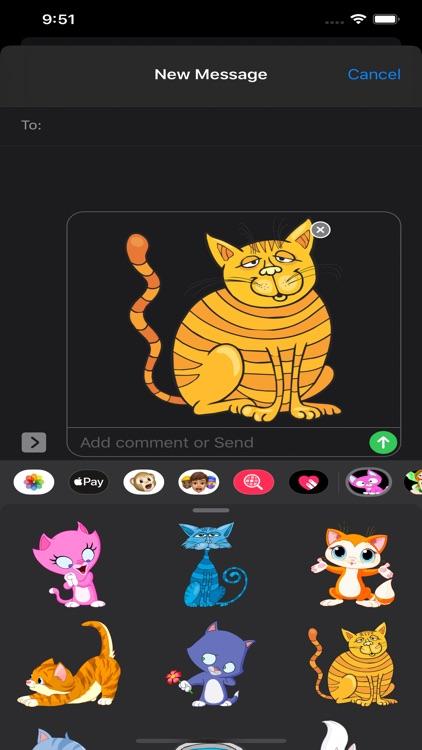 Cats Stickers & Emojis screenshot-8