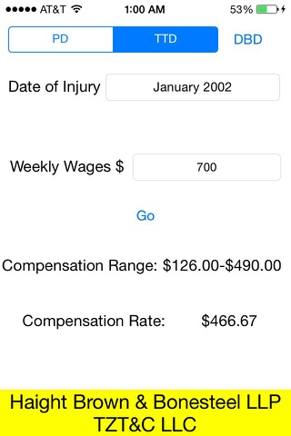 Screenshot of iComp Calculator