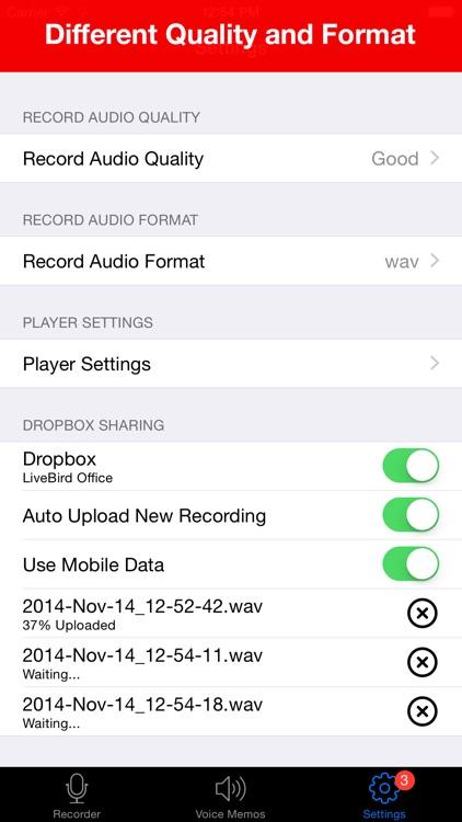 Voice Recorder Lite: Record HD screenshot-4