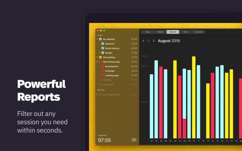 Klokki Slim - Time Tracking скриншот программы 2