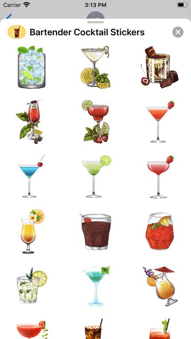 Bartender Cocktail Stickers screenshot 3