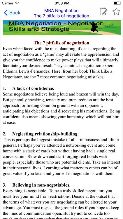 MBA Negotiation - screenshot-3
