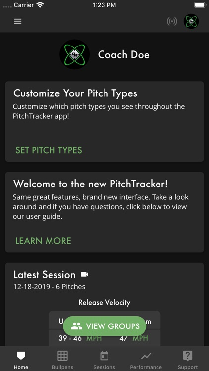 PitchTracker Baseball