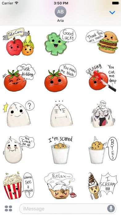 Adorable friends Food Emoji screenshot 3