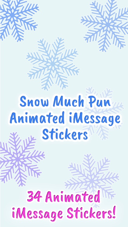 Snow Much Pun Stickers