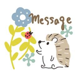Small cute hedgehog message