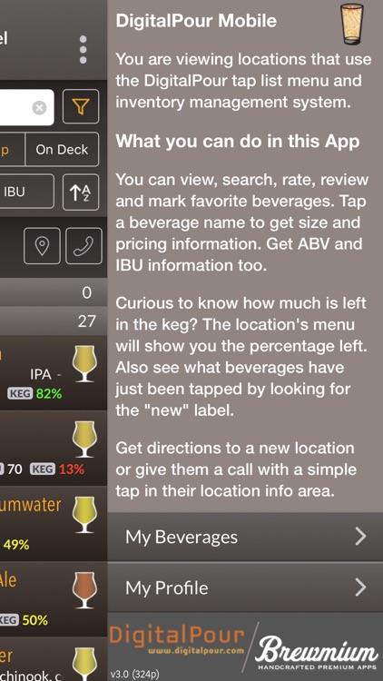 DigitalPour - Pocket Beer Menu screenshot-4