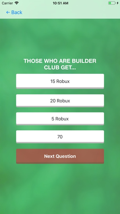 Robux Quiz for Roblox