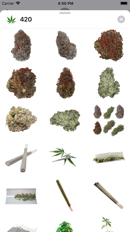 420 Leafs Stickers