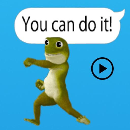 Animated Dancing Frog Chating