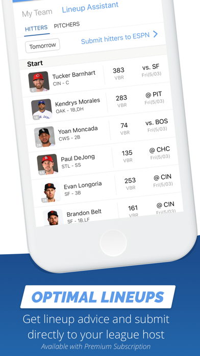 Fantasy Baseball My Playbook Screenshot
