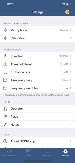 NIOSH Sound Level Meter on the App Store
