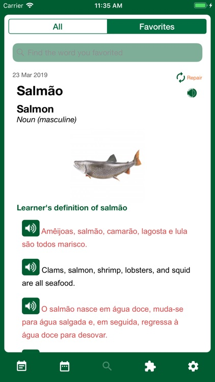 Portuguese Word of the Day screenshot-3