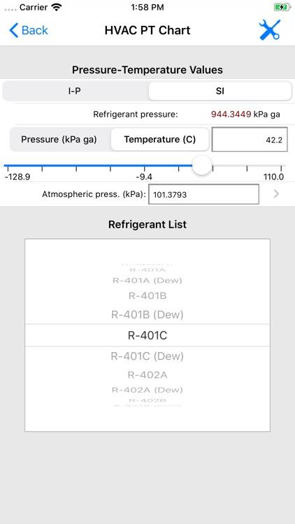 ASHRAE HVAC PT Chart screenshot-7
