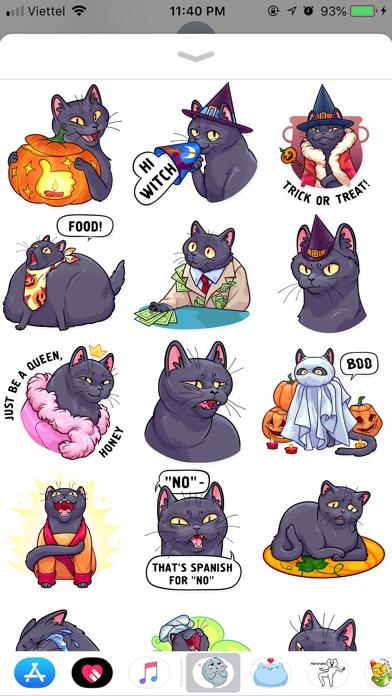 Cat Halloween Emoji Stickers screenshot 1