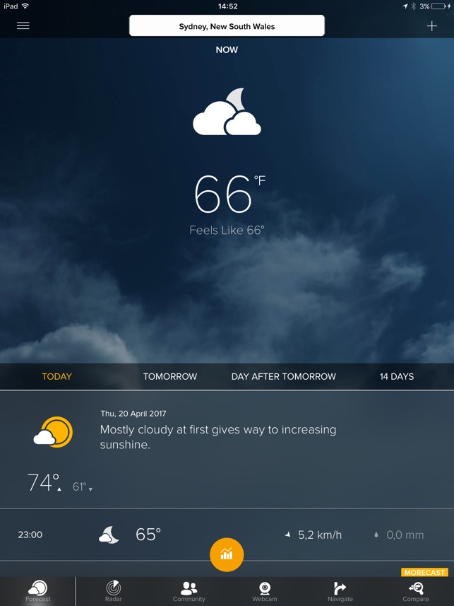 MORECAST Weather App on the App Store