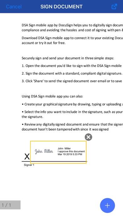 DSA Sign screenshot four