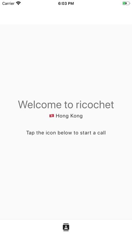 Ricochet - International calls
