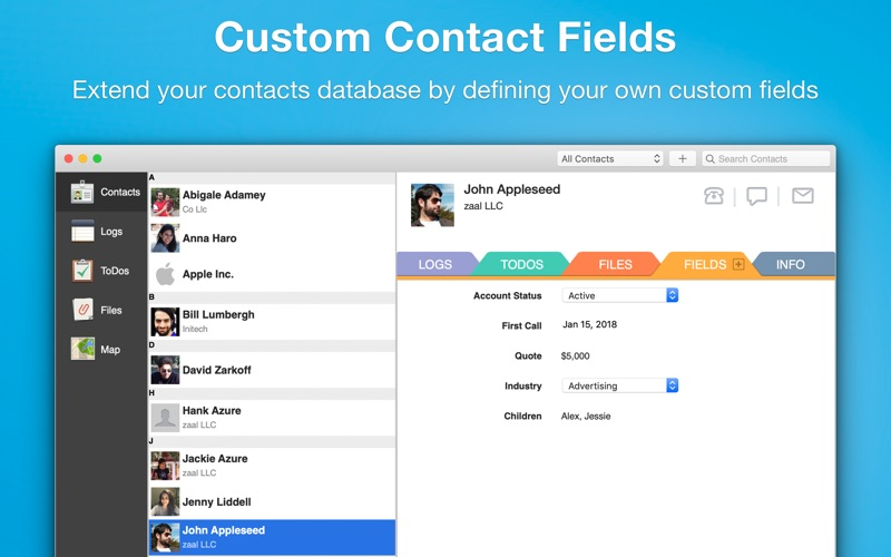 Screenshot #3 pour Contacts Journal CRM