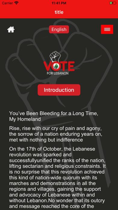 Vote For Lebanon screenshot 1