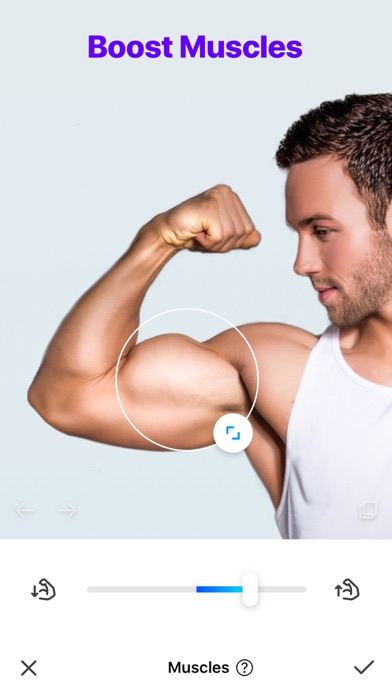 Manly - Body Muscle Editor Pro Screenshot