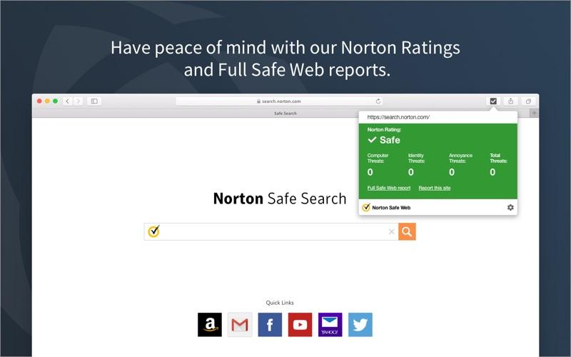 Norton Safe Web Screenshot