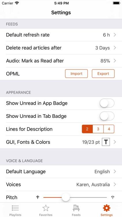 Legi (RSS Feed Reader) screenshot-3