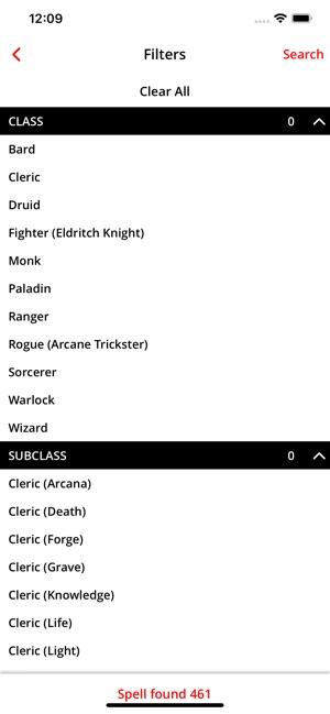 Spell List D&D 5e on the App Store