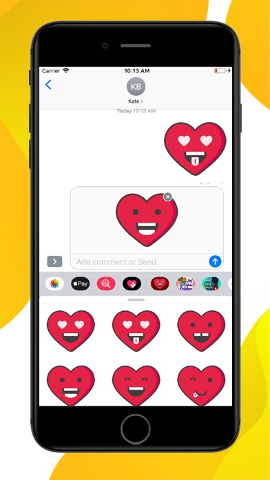 Love Heart Emoji Stickers screenshot 2