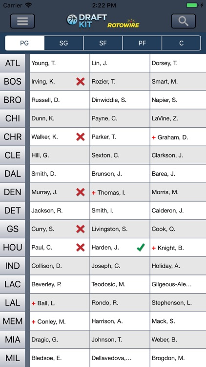 Fantasy Basketball Draft '18 screenshot-2