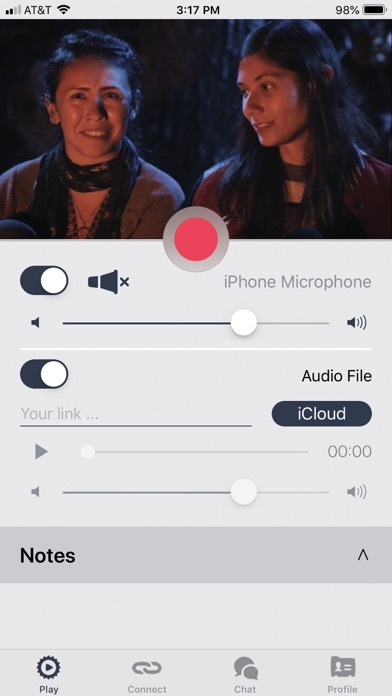 Screenshot of Soundwhale App