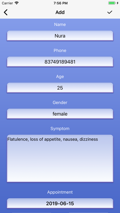 My Treatment Appointment Screenshot