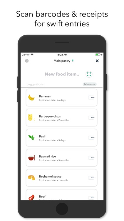 NoWaste - Food Inventory List screenshot-3