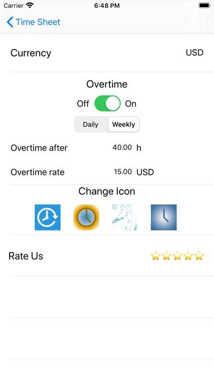 Work Hours Tracker Time Sheet