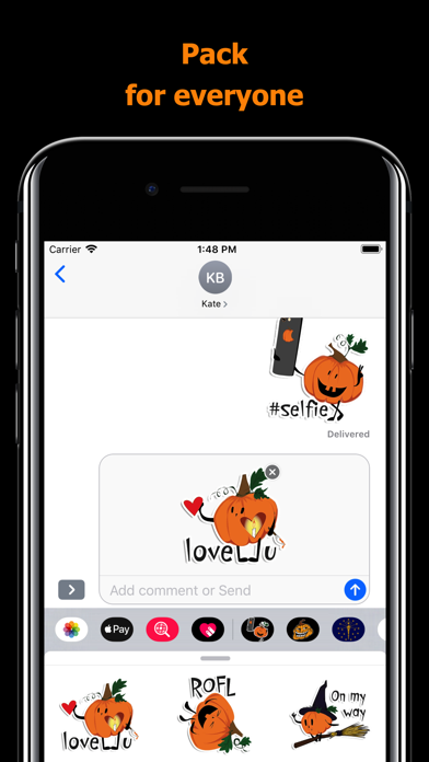 Halloween stickers - pumpkin screenshot 4