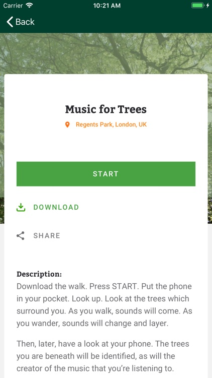 Music for Trees
