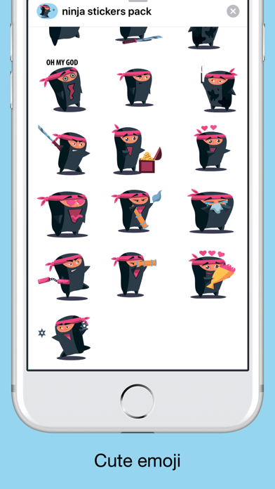 Ninja emoji - Attack stickers screenshot 2